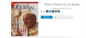 CHRISTIAN RESEARCH INSTITUTE: Misleadingly 'soft' on Roman Catholicism